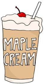 maple cream milkshake