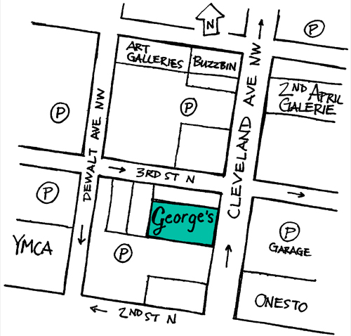 George's map downtown canton