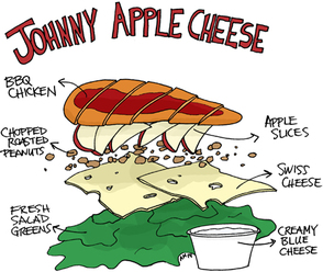 Johnny Apple Cheese Salad